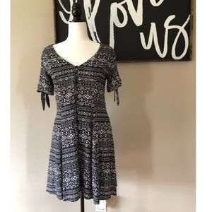 Wishful park Aztec print button up dress